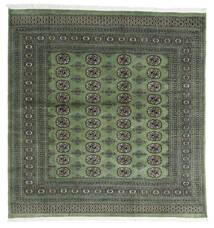 Pakistan Bokhara 2Ply Teppe 199X207 Ekte Orientalsk Håndknyttet Kvadratisk Mørk Grå/Mørk Grønn (Ull, Pakistan)