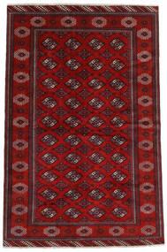 Turkaman Teppe 194X293 Ekte Orientalsk Håndknyttet Mørk Rød/Rust (Ull, Persia/Iran)