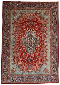 Mashad Teppe 247X350 Ekte Orientalsk Håndknyttet Mørk Brun/Mørk Rød (Ull, Persia/Iran)