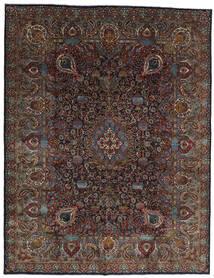 Kashmar Teppe 303X391 Ekte Orientalsk Håndknyttet Mørk Brun/Mørk Grå Stort (Ull, Persia/Iran)