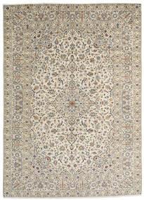 Keshan Teppe 253X352 Ekte Orientalsk Håndknyttet Lys Grå/Mørk Beige/Beige Stort (Ull, Persia/Iran)