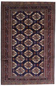 Turkaman Teppe 247X378 Ekte Orientalsk Håndknyttet Mørk Lilla/Mørk Brun (Ull, Persia/Iran)