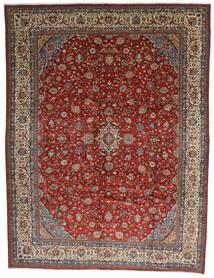 Sarough Teppe 325X425 Ekte Orientalsk Håndknyttet Mørk Brun/Mørk Rød Stort (Ull, Persia/Iran)