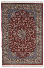 Isfahan Sherkat Farsh Teppe 200X300 Ekte Orientalsk Håndknyttet Mørk Rød/Mørk Brun (Ull/Silke, Persia/Iran)