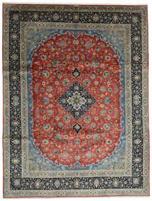 Keshan Teppe 296X388 Ekte Orientalsk Håndknyttet Mørk Grå/Mørk Grønn Stort (Ull, Persia/Iran)