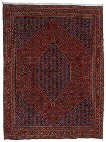 Bidjar Teppe 304X404 Ekte Orientalsk Håndknyttet Mørk Rød/Mørk Brun Stort (Ull, Persia/Iran)