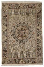 Kashmir Ren Silke Teppe 188X279 Ekte Orientalsk Håndvevd Lysbrun/Lys Grå (Silke, India)