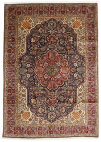 Tabriz Teppe 200X280 Ekte Orientalsk Håndknyttet Mørk Brun/Lysbrun (Ull, Persia/Iran)
