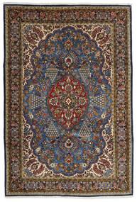 Ghom Kork/Silke Teppe 215X322 Ekte Orientalsk Håndknyttet Brun/Mørk Grå (Ull/Silke, Persia/Iran)