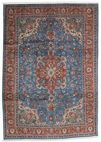 Tabriz Teppe 204X290 Ekte Orientalsk Håndknyttet Mørk Grå/Lys Grå (Ull, Persia/Iran)