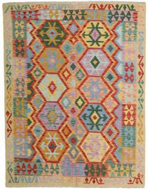 Kelim Afghan Old Style Teppe 152X198 Ekte Orientalsk Håndvevd Lys Grå/Rød (Ull, Afghanistan)