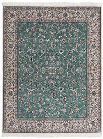 Nain 9La Teppe 193X245 Ekte Orientalsk Håndknyttet Mørk Grå/Lys Grå (Ull/Silke, Persia/Iran)