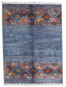 Shabargan Teppe 153X204 Ekte Moderne Håndknyttet Blå/Lys Blå (Ull, Afghanistan)