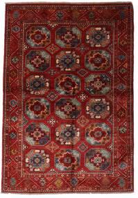 Moderne Afghan Teppe 137X201 Ekte Moderne Håndknyttet Mørk Rød (Ull, Afghanistan)