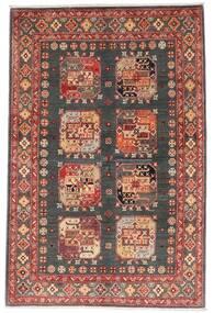 Kazak Teppe 118X179 Ekte Orientalsk Håndknyttet Mørk Rød/Mørk Grå (Ull, Afghanistan)