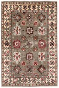 Kazak Teppe 121X181 Ekte Orientalsk Håndknyttet Lys Grå/Lysbrun (Ull, Afghanistan)