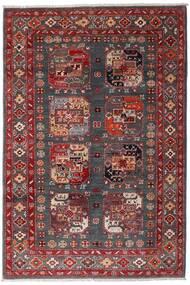 Kazak Teppe 117X173 Ekte Orientalsk Håndknyttet Mørk Rød/Mørk Brun (Ull, Afghanistan)