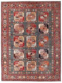 Kazak Teppe 152X202 Ekte Orientalsk Håndknyttet Mørk Rød/Brun (Ull, Afghanistan)