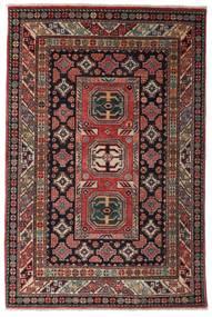Kazak Teppe 118X177 Ekte Orientalsk Håndknyttet Mørk Rød/Mørk Brun (Ull, Afghanistan)