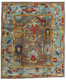 Kazak Teppe 244X290 Ekte Orientalsk Håndknyttet Brun/Lys Grå (Ull, Afghanistan)