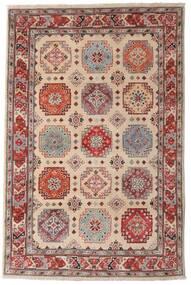 Kazak Teppe 118X179 Ekte Orientalsk Håndknyttet Mørk Brun/Lys Grå (Ull, Afghanistan)