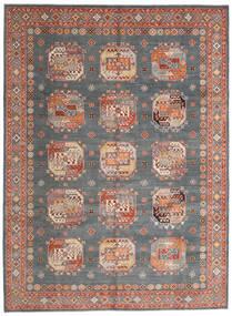 Kazak Teppe 246X333 Ekte Orientalsk Håndknyttet Mørk Grønn/Mørk Rød (Ull, Afghanistan)