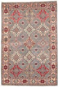 Kazak Teppe 121X177 Ekte Orientalsk Håndknyttet Lys Grå/Mørk Rød (Ull, Afghanistan)