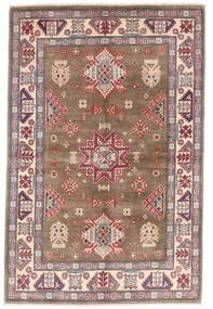 Kazak Teppe 119X179 Ekte Orientalsk Håndknyttet Brun/Lys Grå (Ull, Afghanistan)