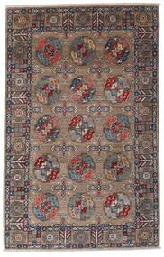 Kazak Teppe 115X182 Ekte Orientalsk Håndknyttet Lys Grå/Mørk Brun (Ull, Afghanistan)