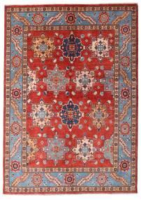 Kazak Teppe 144X203 Ekte Orientalsk Håndknyttet Mørk Rød/Rust (Ull, Afghanistan)