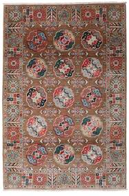 Kazak Teppe 117X176 Ekte Orientalsk Håndknyttet Mørk Rød/Mørk Brun (Ull, Afghanistan)