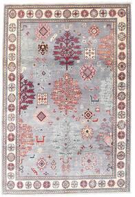 Kazak Teppe 120X176 Ekte Orientalsk Håndknyttet Lyselilla/Lyserosa (Ull, Afghanistan)