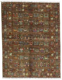 Shabargan .L Teppe 156X201 Ekte Moderne Håndknyttet Mørk Brun/Brun (Ull, Afghanistan)