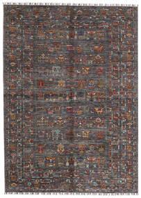 Shabargan Teppe 174X240 Ekte Moderne Håndknyttet Mørk Brun/Mørk Grå (Ull, Afghanistan)