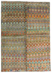 Moroccan Berber - Afghanistan Teppe 171X243 Ekte Moderne Håndknyttet Brun/Mørk Grå (Ull, Afghanistan)