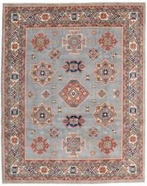 Kazak Teppe 243X302 Ekte Orientalsk Håndknyttet Lys Grå/Mørk Brun (Ull, Afghanistan)