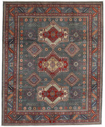 Kazak Teppe 243X297 Ekte Orientalsk Håndknyttet Mørk Grå/Mørk Rød (Ull, Afghanistan)