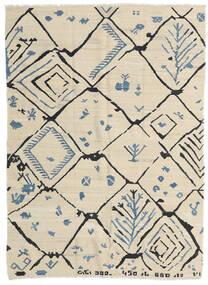 Kelim Moderne Teppe 175X237 Ekte Moderne Håndvevd Mørk Beige/Beige (Ull, Afghanistan)