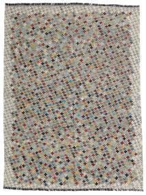 Kelim Afghan Old Style Teppe 172X230 Ekte Orientalsk Håndvevd Lys Grå/Mørk Grå (Ull, Afghanistan)