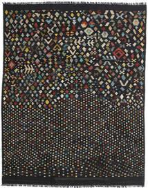 Kelim Moderne Teppe 181X228 Ekte Moderne Håndvevd Svart/Mørk Grå (Ull, Afghanistan)