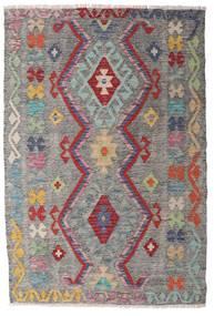 Kelim Afghan Old Style Teppe 100X148 Ekte Orientalsk Håndvevd Lys Grå/Mørk Grå (Ull, Afghanistan)