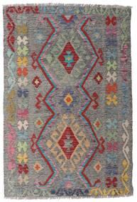 Kelim Afghan Old Style Teppe 98X148 Ekte Orientalsk Håndvevd Lys Grå/Mørk Grå (Ull, Afghanistan)