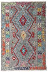 Kelim Afghan Old Style Teppe 97X147 Ekte Orientalsk Håndvevd Mørk Grå/Lys Grå (Ull, Afghanistan)