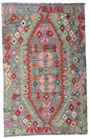 Kelim Afghan Old Style Teppe 96X149 Ekte Orientalsk Håndvevd Lys Grå/Mørk Grå (Ull, Afghanistan)