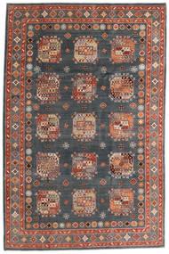 Kazak Teppe 195X296 Ekte Orientalsk Håndknyttet Mørk Grå/Mørk Rød (Ull, Afghanistan)