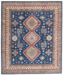Kazak Teppe 249X296 Ekte Orientalsk Håndknyttet Mørk Blå/Lys Grå (Ull, Afghanistan)