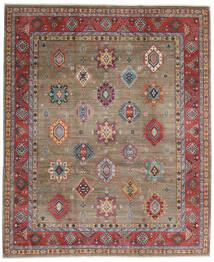 Kazak Teppe 247X297 Ekte Orientalsk Håndknyttet Lys Grå/Mørk Rød (Ull, Afghanistan)