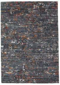 Damask Collection Teppe 162X229 Ekte Moderne Håndknyttet Mørk Grå/Lys Grå ( India)