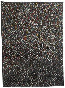 Kelim Moderne Teppe 214X288 Ekte Moderne Håndvevd Svart (Ull, Afghanistan)