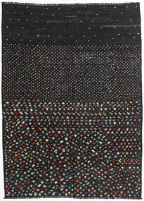 Kelim Moderne Teppe 206X277 Ekte Moderne Håndvevd Svart (Ull, Afghanistan)